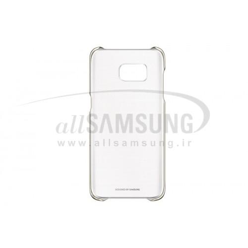 گلکسی اس 7 اج سامسونگ کلیر کاور طلایی Samsung Galaxy S7 edge Clear Cover Gold
