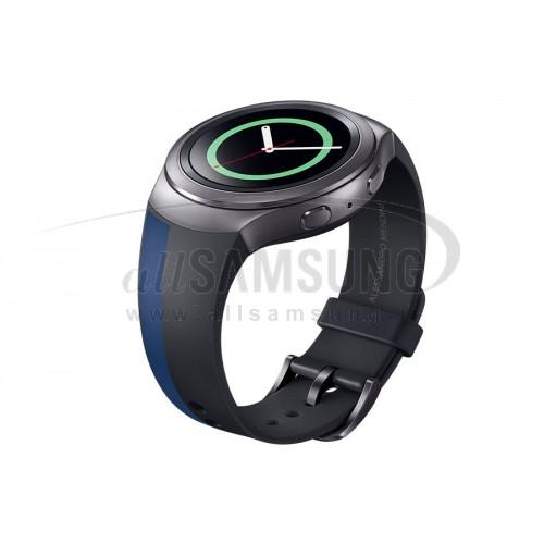 گیر اس 2 سامسونگ بند ساعت آبی مشکی Samsung Gear S2 Band mendini BlueBlack
