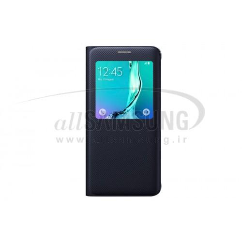 گلکسی اس 6 اج پلاس سامسونگ اس ویو کاور مشکی Samsung Galaxy S6 edge+ Plus S View Cover Black
