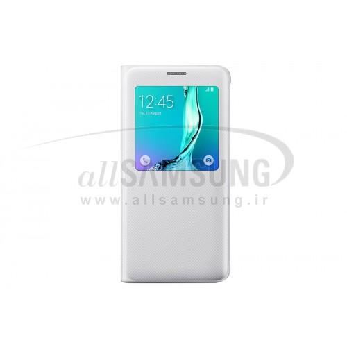 گلکسی اس 6 اج پلاس سامسونگ اس ویو کاور سفید Samsung Galaxy S6 edge+ Plus S View Cover White