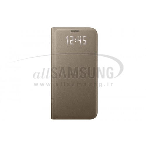 گلکسی اس 7 سامسونگ ال ای دی ویو کاور طلایی Samsung Galaxy S7 LED View Cover Gold
