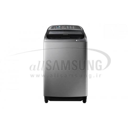 ماشین لباسشویی سامسونگ 11 کیلویی درب بالا خاکستری Samsung Washing Machine 11kg WA16 Inox