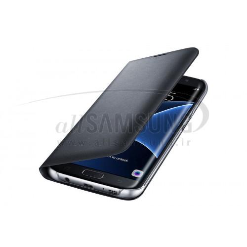 گلکسی اس 7 اج سامسونگ ال ای دی کاور مشکی Samsung Galaxy S7 edge LED Cover Black