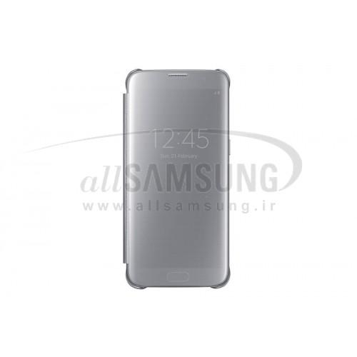 گلکسی اس 7 اج سامسونگ کلیر ویو کاور نقره ای Samsung Galaxy S7 edge Clear View Cover Silver