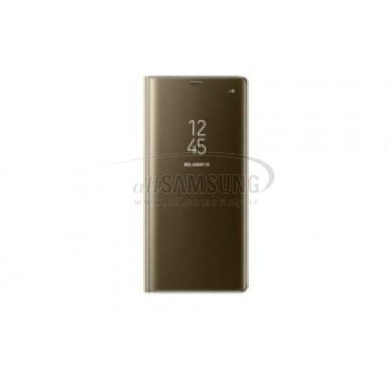 گلکسی نوت 8 سامسونگ کلیر ویو استندینگ کاور طلایی Samsung Galaxy Note8 Clear View Standing Cover Gold