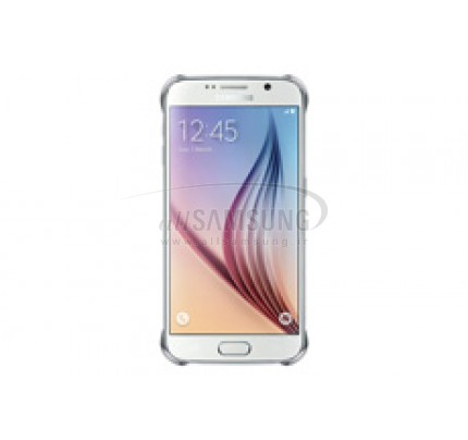 گلکسی اس 6 سامسونگ کلیر کاور نقره ای Samsung Galaxy S6 Clear Cover Silver