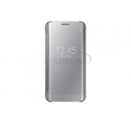 گلکسی اس 6 اج سامسونگ کلیر ویو کاور نقره ای Samsung Galaxy S6 Edge Clear View Cover Silver