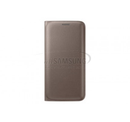 گلکسی اس 6 اج سامسونگ فلیپ ولت کاور طلایی Samsung Galaxy S6 edge Flip Wallet Cover Gold