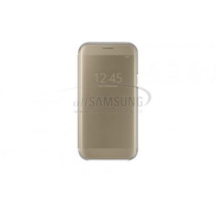 گوشی سامسونگ گلکسی ای 5 2017 کلیر ویو کاور طلایی Samsung Galaxy A5 2017 Clear View Cover Gold EF-ZA520