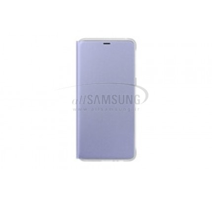 گوشی سامسونگ گلکسی ای 8 پلاس نئون فلیپ کاور ارغوانی Samsung Galaxy A8+ Neon Flip Cover FA730P Orchid Gray