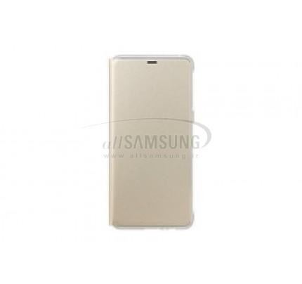 گوشی سامسونگ گلکسی ای 8 نئون فلیپ کاور طلایی Samsung Galaxy A8 2018 Neon Flip Cover FA530P Gold
