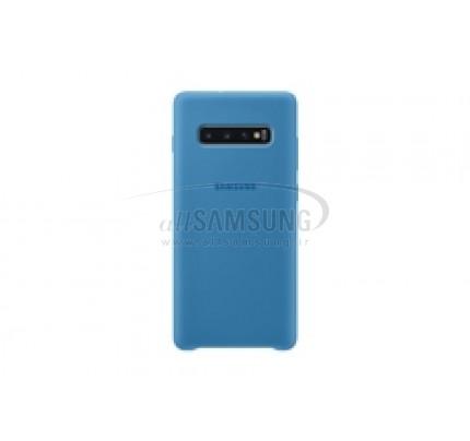 گلکسی اس 10 پلاس سامسونگ سیلیکون کاور آبی Samsung Galaxy S10+ Silicone Cover Blue EF-PG975TB
