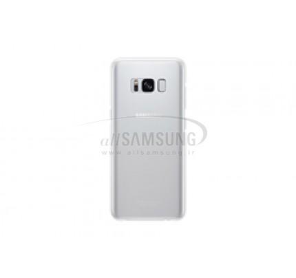 گلکسی اس 8 سامسونگ کلیر کاور نقره ای Samsung Galaxy S8 Clear Cover Silver EF-QG950CS