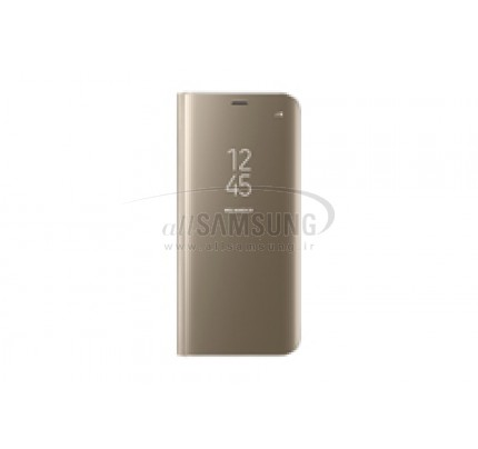 گلکسی اس 8 سامسونگ کلیر ویو استندینگ کاور طلایی Samsung Galaxy S8 Clear View Standing Cover Gold