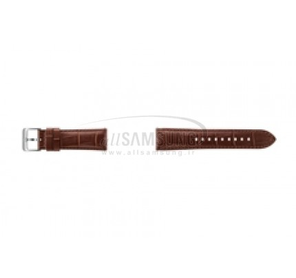 گیر اس 3 سامسونگ بند ساعت چرمی قهوه ای Samsung Gear S3 Alligator Grain Leather Band Brown ET-YSA76MD