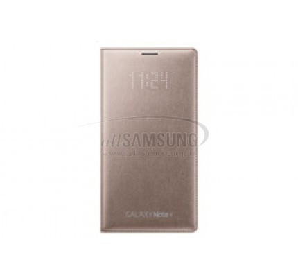 گلکسی نوت 4 سامسونگ ال ای دی فلیپ ولت طلایی Samsung Galaxy Note4 LED Flip Wallet Gold