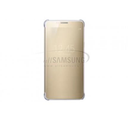 گلکسی نوت 5 سامسونگ کلیر ویو کاور طلایی Samsung Galaxy Note5 Clear View Cover Gold