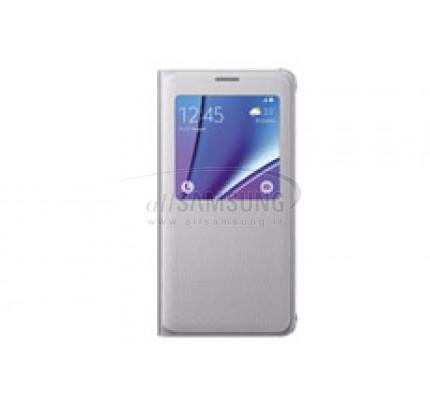 گلکسی نوت 5 سامسونگ اس ویو کاور نقره ای Samsung Galaxy Note5 S View Cover Silver