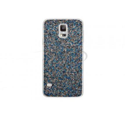 گلکسی اس 5 سامسونگ کاور کریستالی آبی Samsung Galaxy S5 Swarovski Crystal Battery Cover Blue