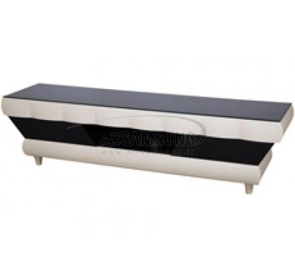 میز تلویزیون سامسونگ مدل R926 کتان کرم/ مشکی هایگلاس Tv Stand R926 Creamy Flax/ Black High Gloss