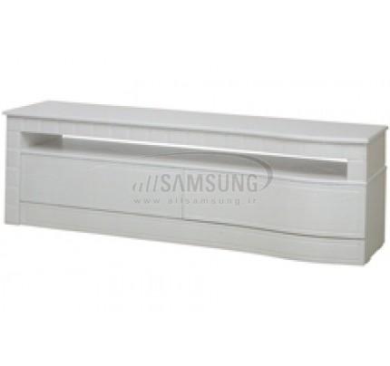 میز منحنی تلویزیون سامسونگ مدل R806 سفید لیزری Tv Stand R806 Laser White Curve