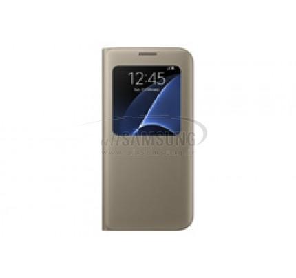 گلکسی اس 7 سامسونگ اس ویو کاور طلایی Samsung Galaxy S7 S View Cover Gold