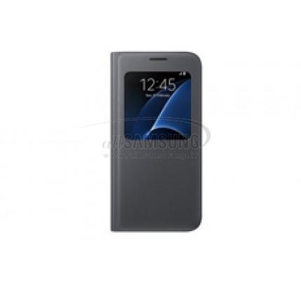 گلکسی اس 7 سامسونگ اس ویو کاور اورجینال مشکی Samsung Galaxy S7 S View Cover Black