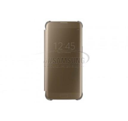 گلکسی اس 7 اج سامسونگ کلیر ویو کاور طلایی Samsung Galaxy S7 edge Clear View Cover Gold