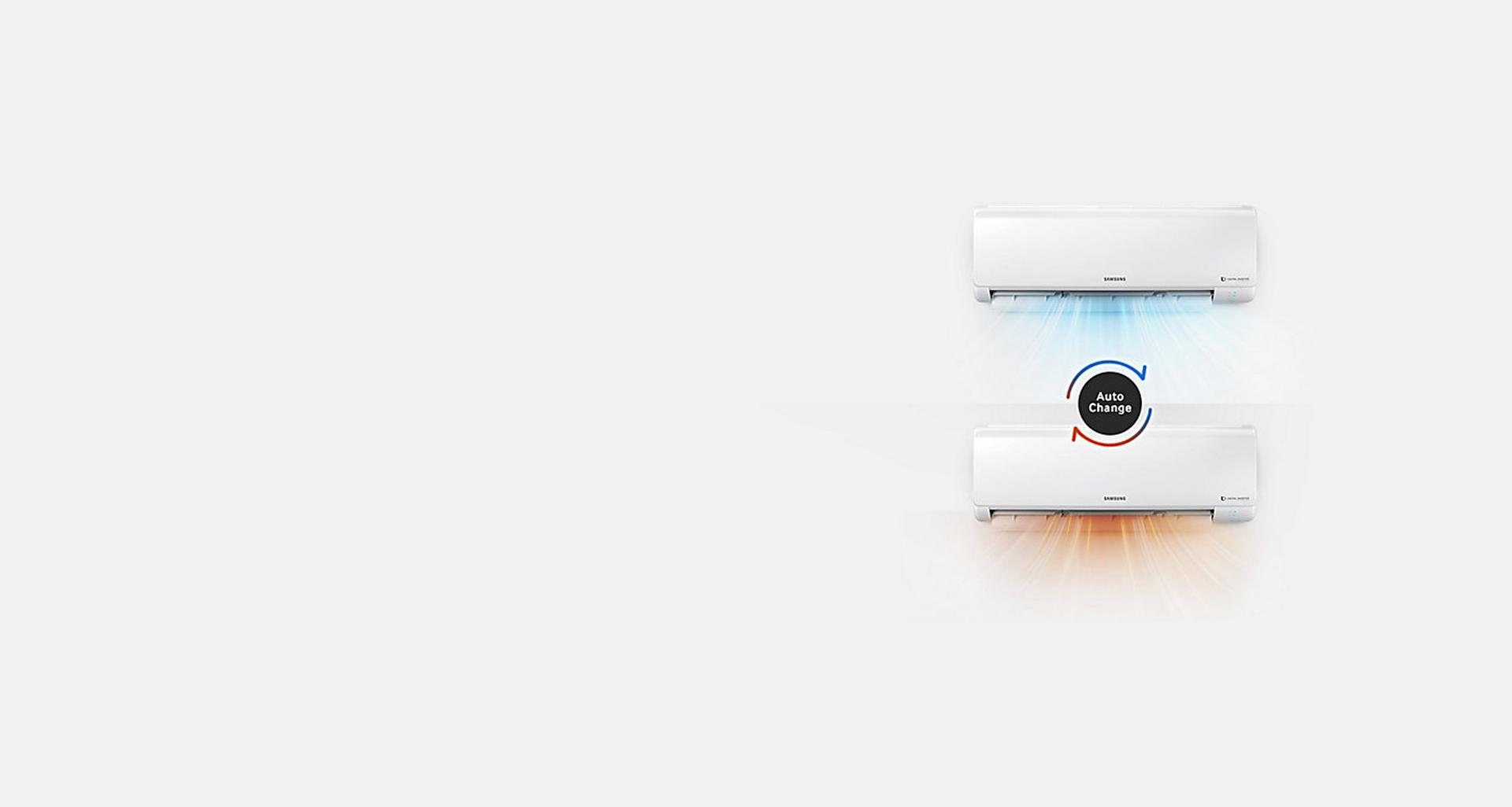 کنترل دمای محیط با کولر گازی 18000 سامسونگ S-Inverter