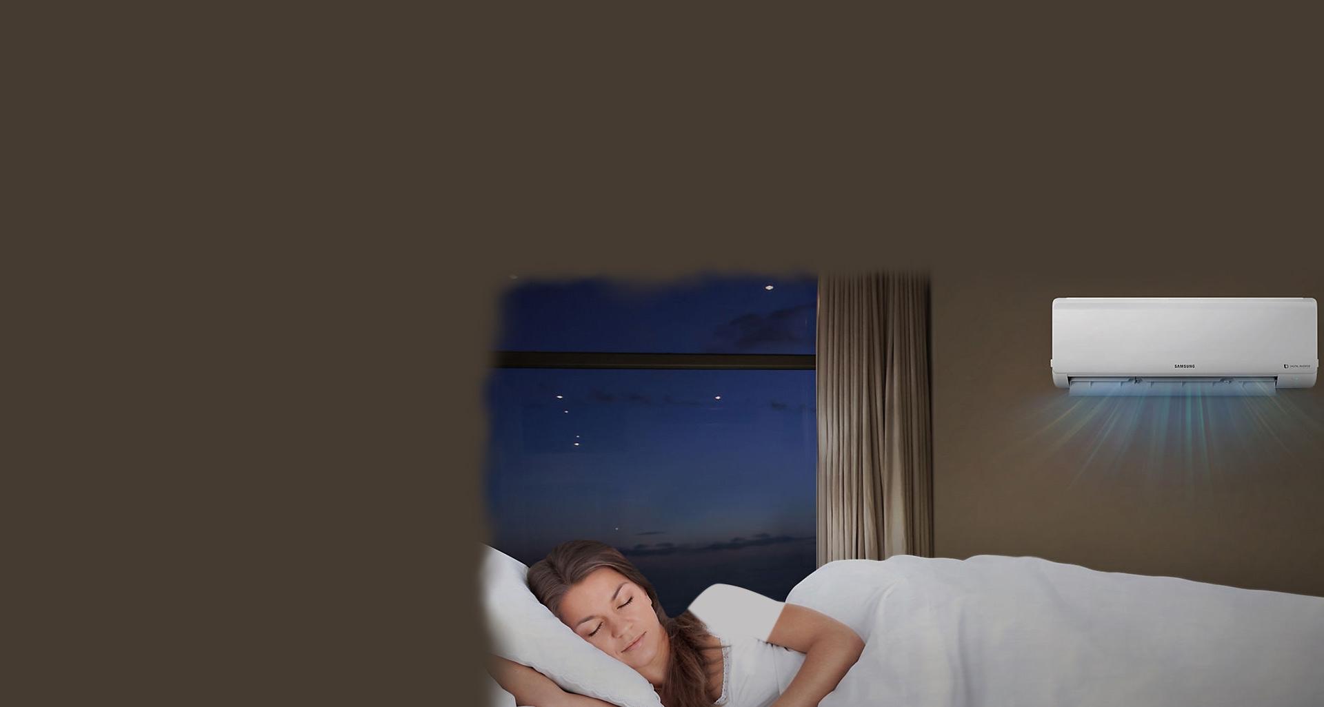 لذت بردن از خواب شبانه به کمک کولر گازی سرد و گرم سامسونگ