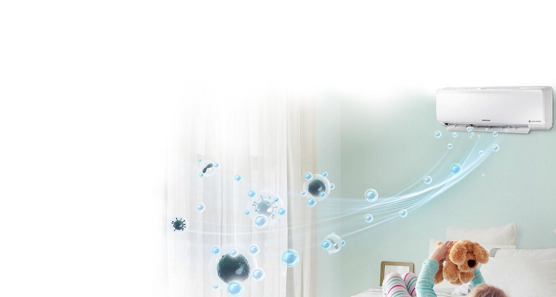 محیطی پاک و تمیز با تهویه هوا S-Inverter