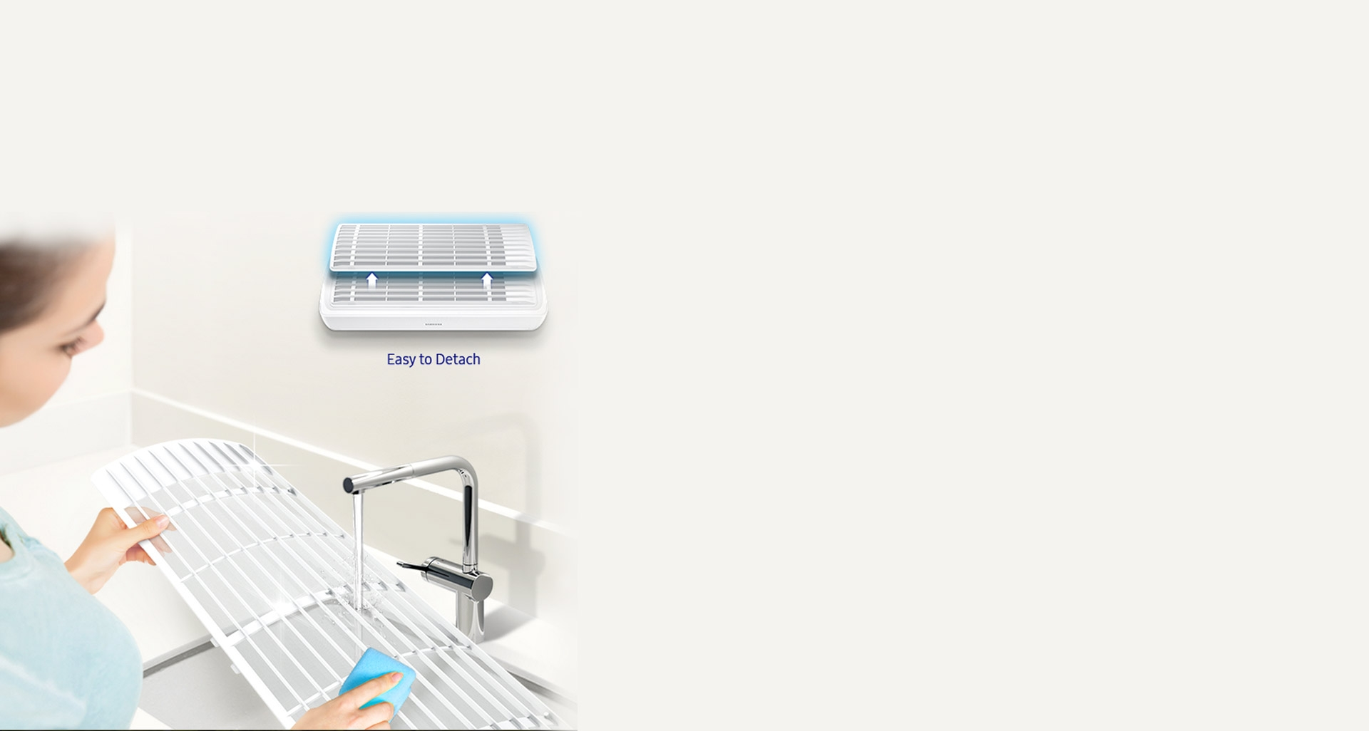 تمیز کردن راحت و سریع فیلتر کولرگازی بدون باد