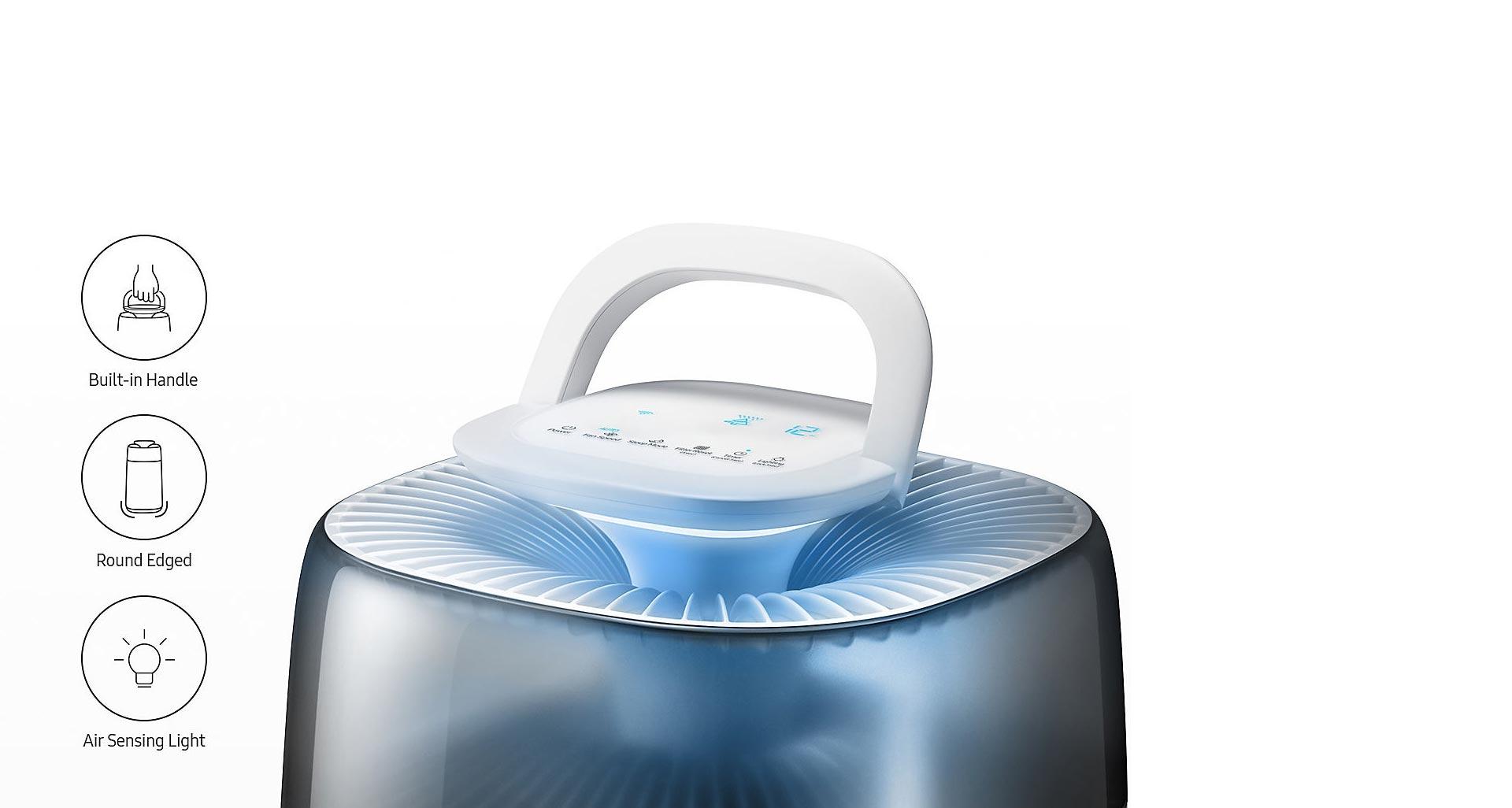 افزایش زیبایی محیط با طراحی بی نظیر تصفیه هوا AC-G42