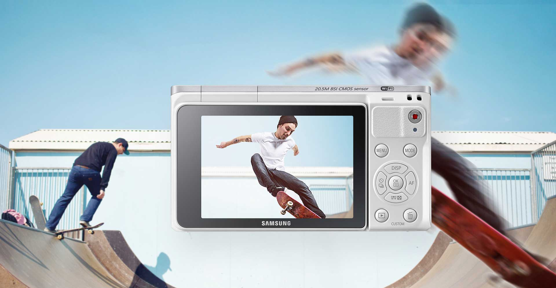 دوربین دیجیتال سامسونگ هوشمند سری NX سفید NX-F1 Mini
