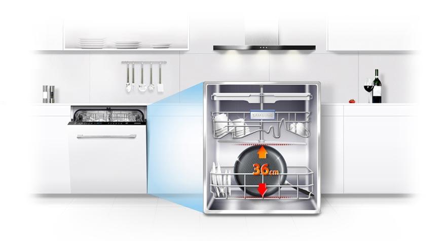 ماشین ظرفشویی 14 نفره سفید سامسونگ D154