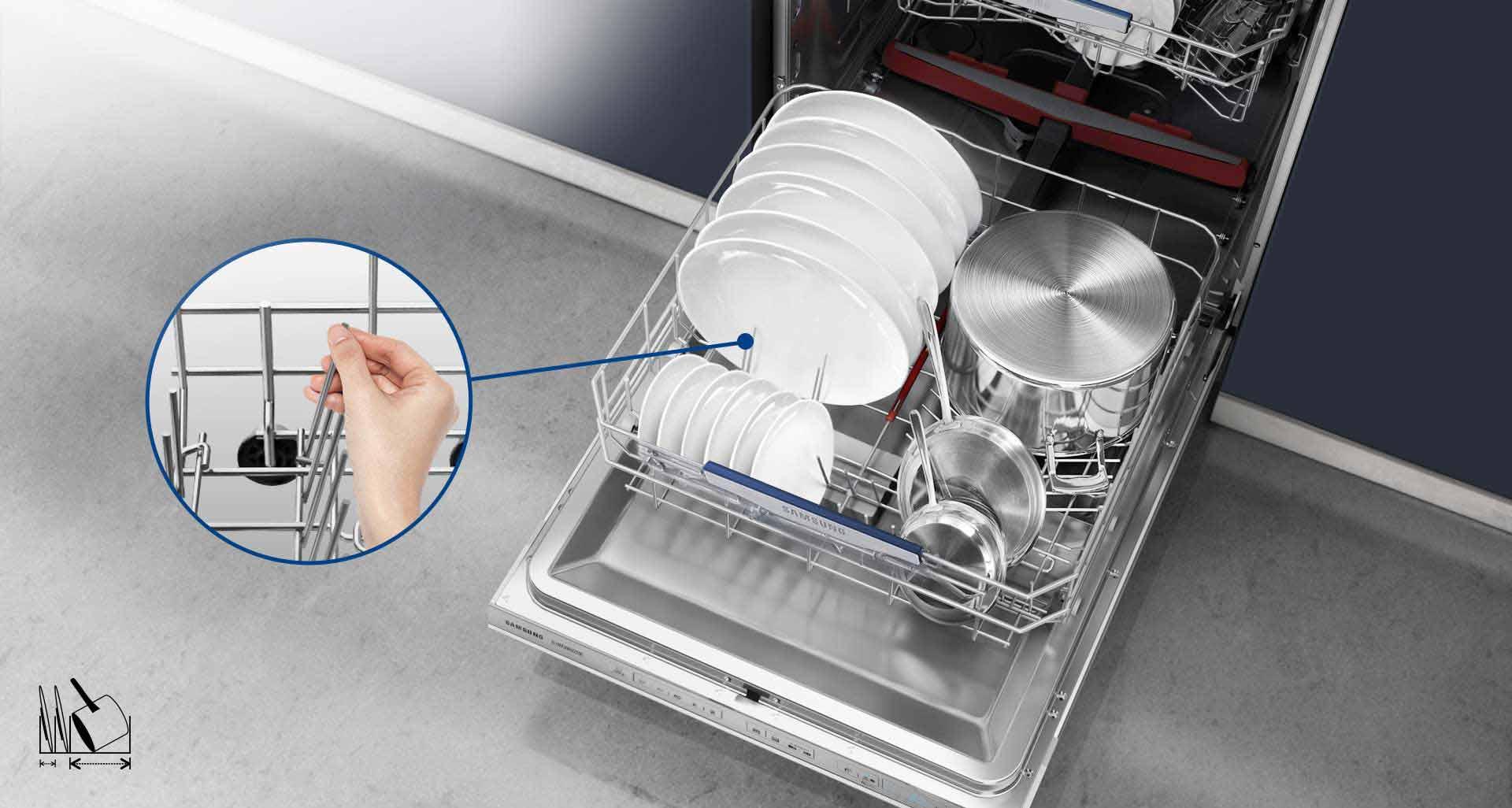 D162 دارای قابلیت شستشوی ظروف در اندازه های مختلف