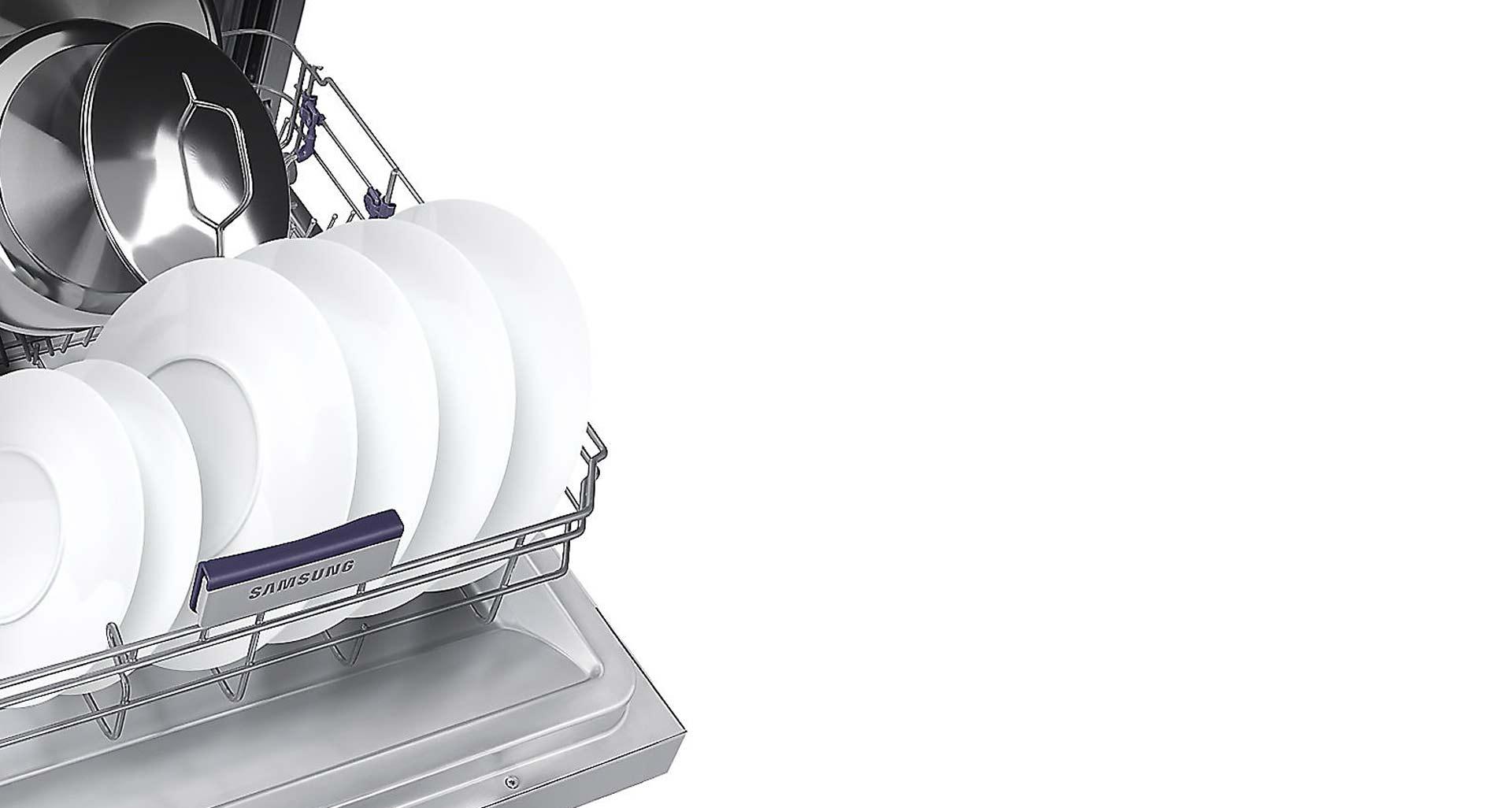 تمیز کردن ظروف با تعداد کم توسط گزینه نیم شور ظرفشویی D157