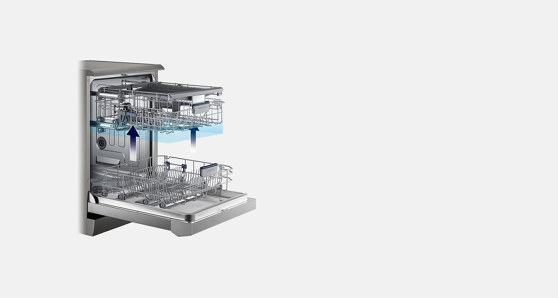 تنظیم ارتفاع یک مرحله ای ظرفشویی D159 سامسونگ