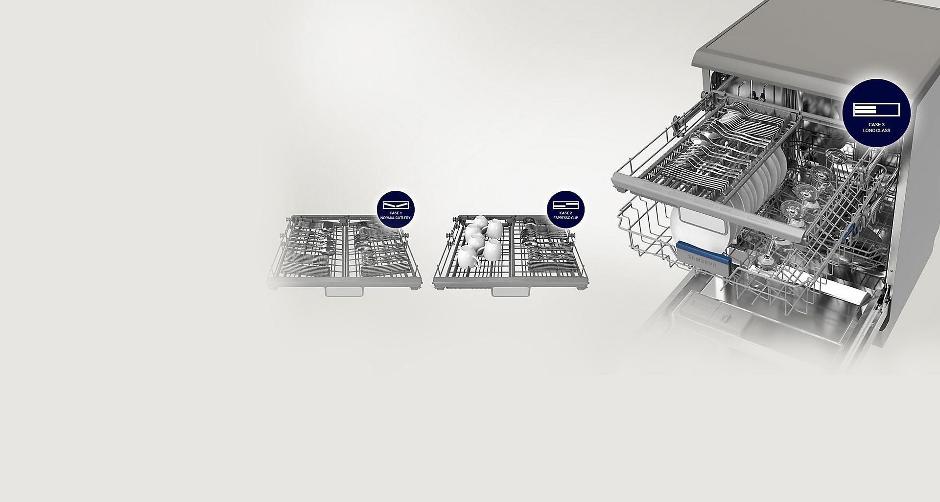طراحی انعطاف پذیر ماشین ظرفشویی سامسونگ 14 نفره