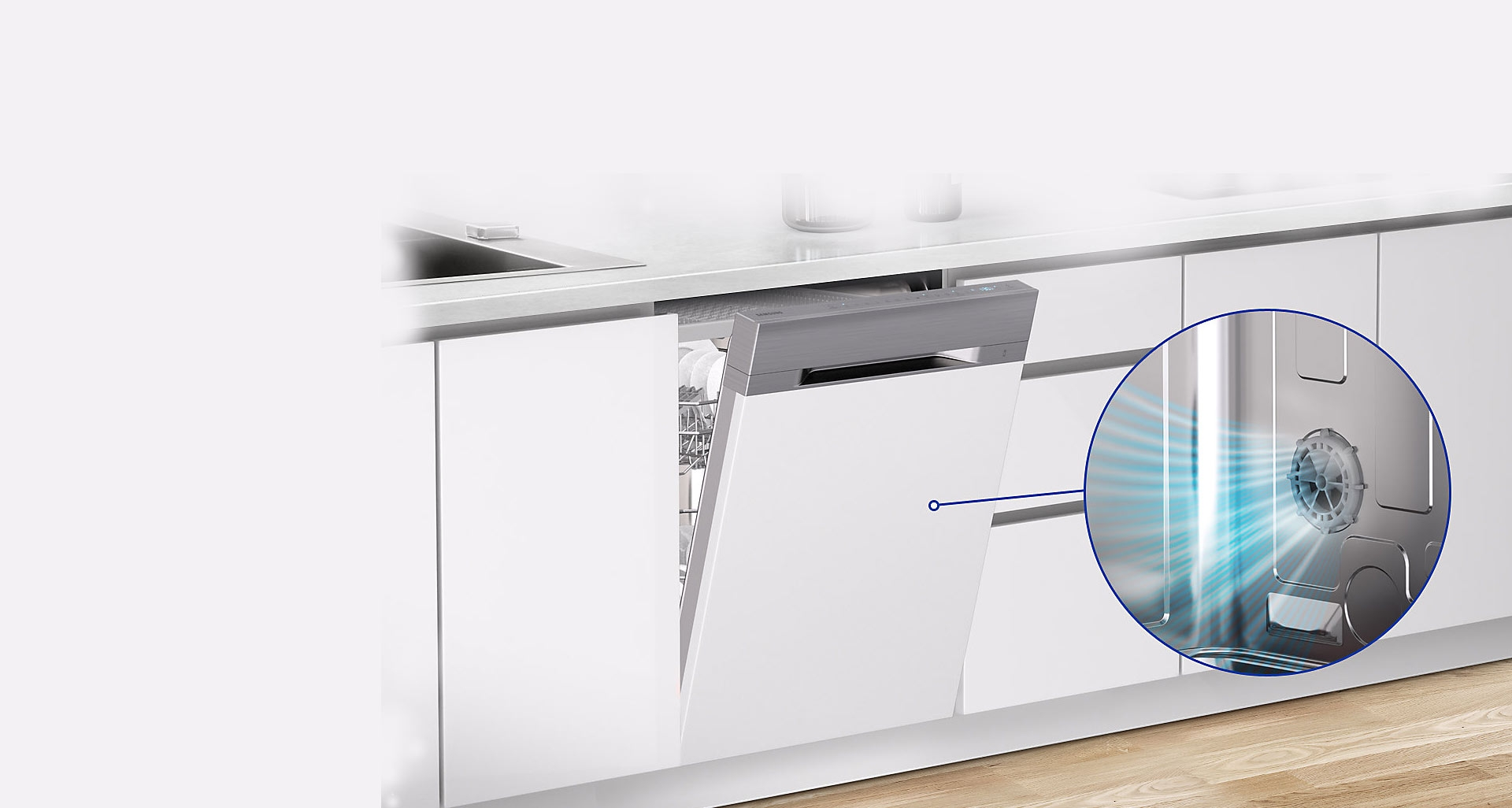 خشک کن خودکار ماشین ظرفشویی WaterWall سامسونگ