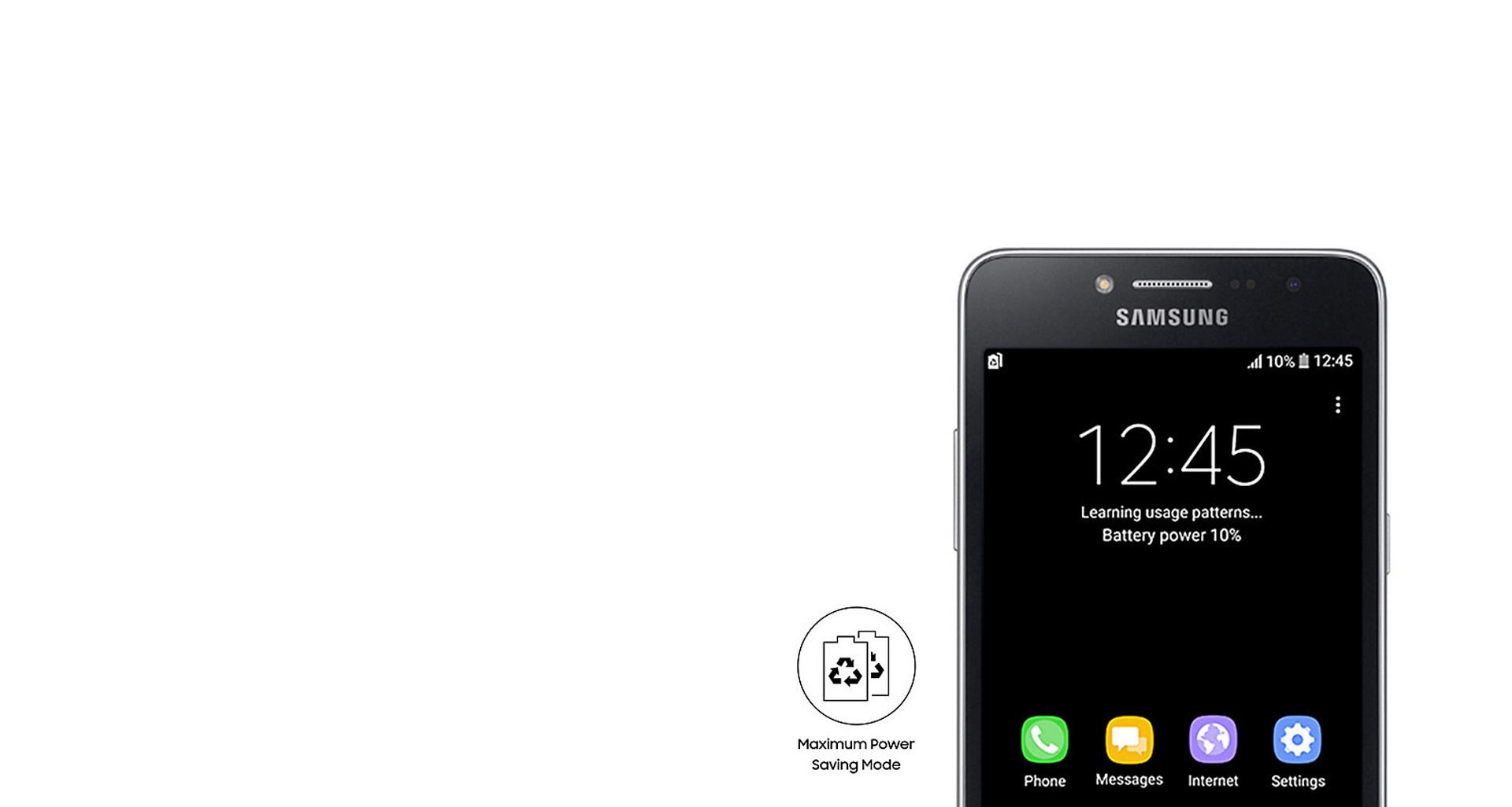 قدرت بهبود یافته باتری گوشی Galaxy Grand Prime Plus