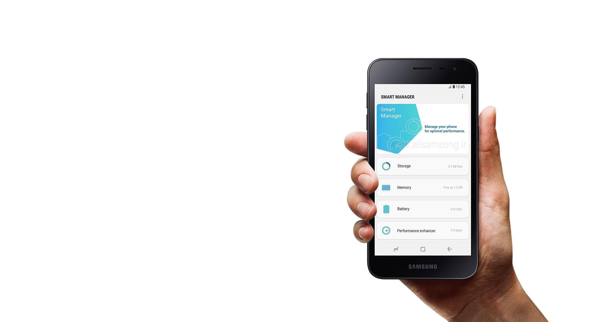 مدیریت حرفه ای و موثر گوشی همراه j2 core سامسونگ