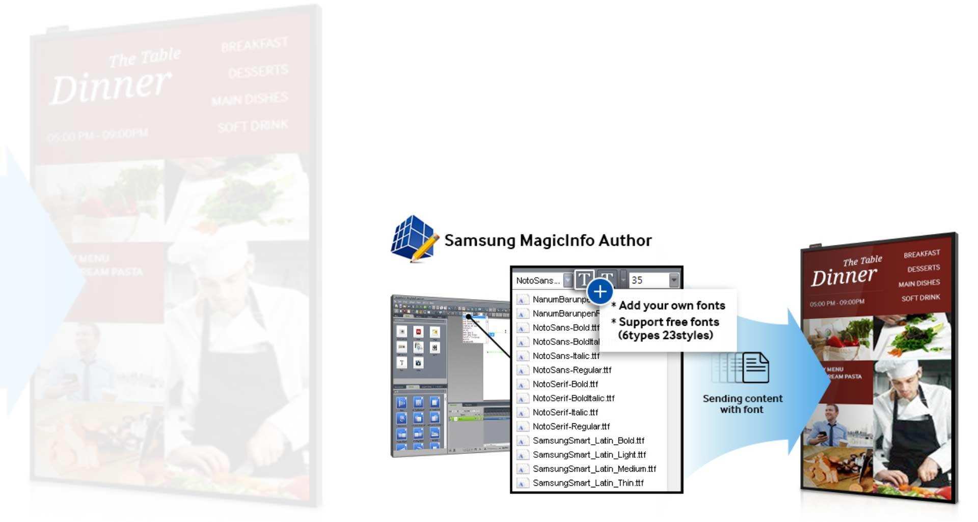 samsung 5 Transform your business messaging with a brilliant  - نمایشگر اطلاع رسان دیجیتال سامسونگ 55 اینچ Samsung Digital Signage DB55E