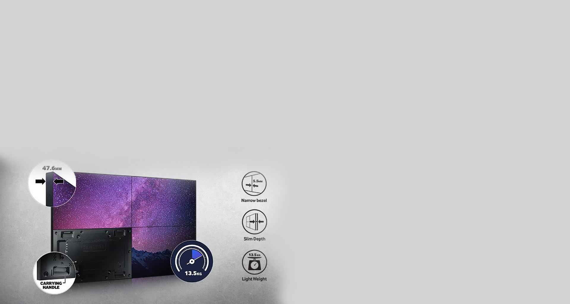 نصب و مونتاژ بسیار آسان ویدئو وال UH46F5 سامسونگ
