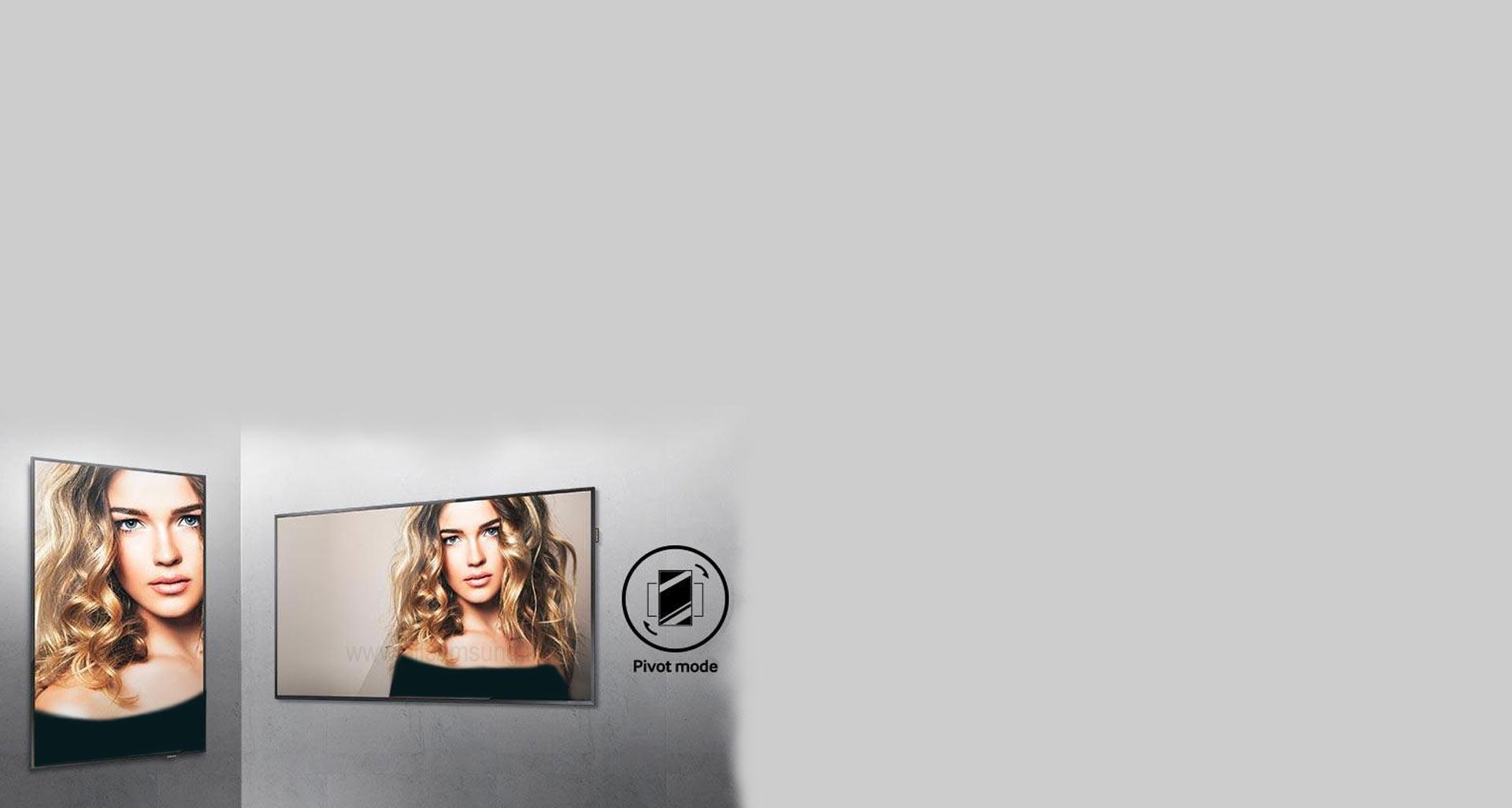 انتخاب مناسب ترین جهت برای نمایش تصاویر با استفاده از حالت pivot mode