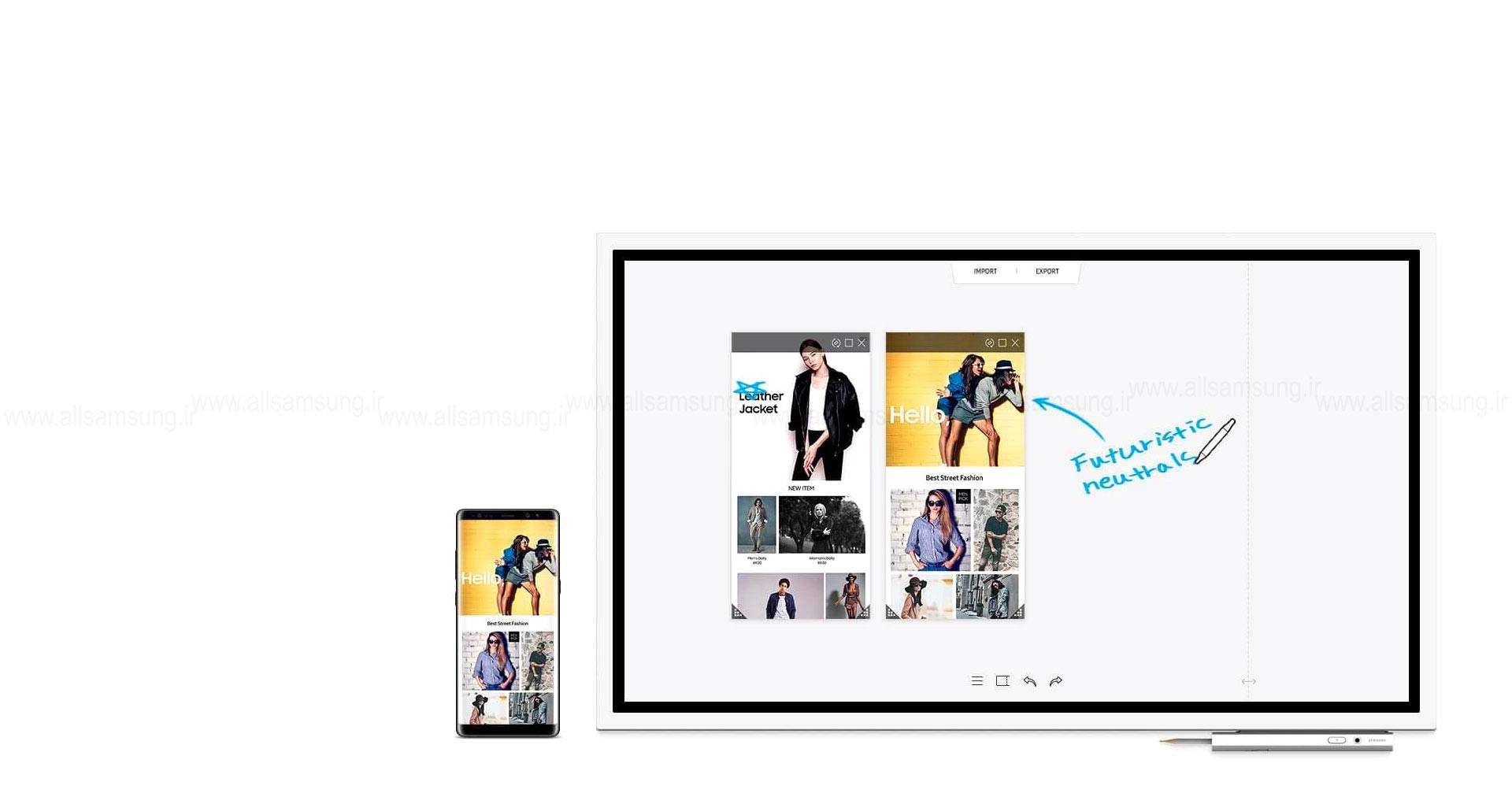 انتقال و دریافت گروهی نکات مطرح شده در جلسه توسط نمایشگر تعاملی Flip