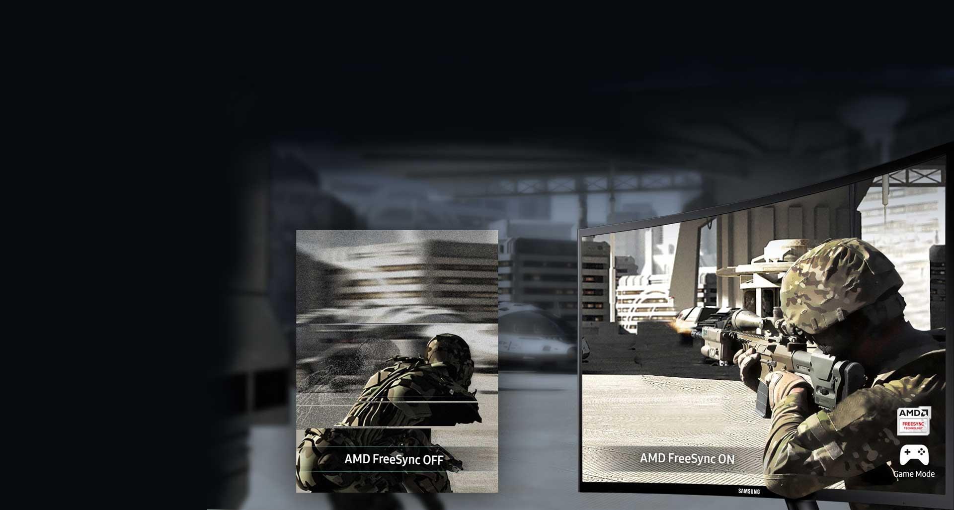 تجریه بازی بی نظیر با ویژگی AMD FreeSync مانیتور F390
