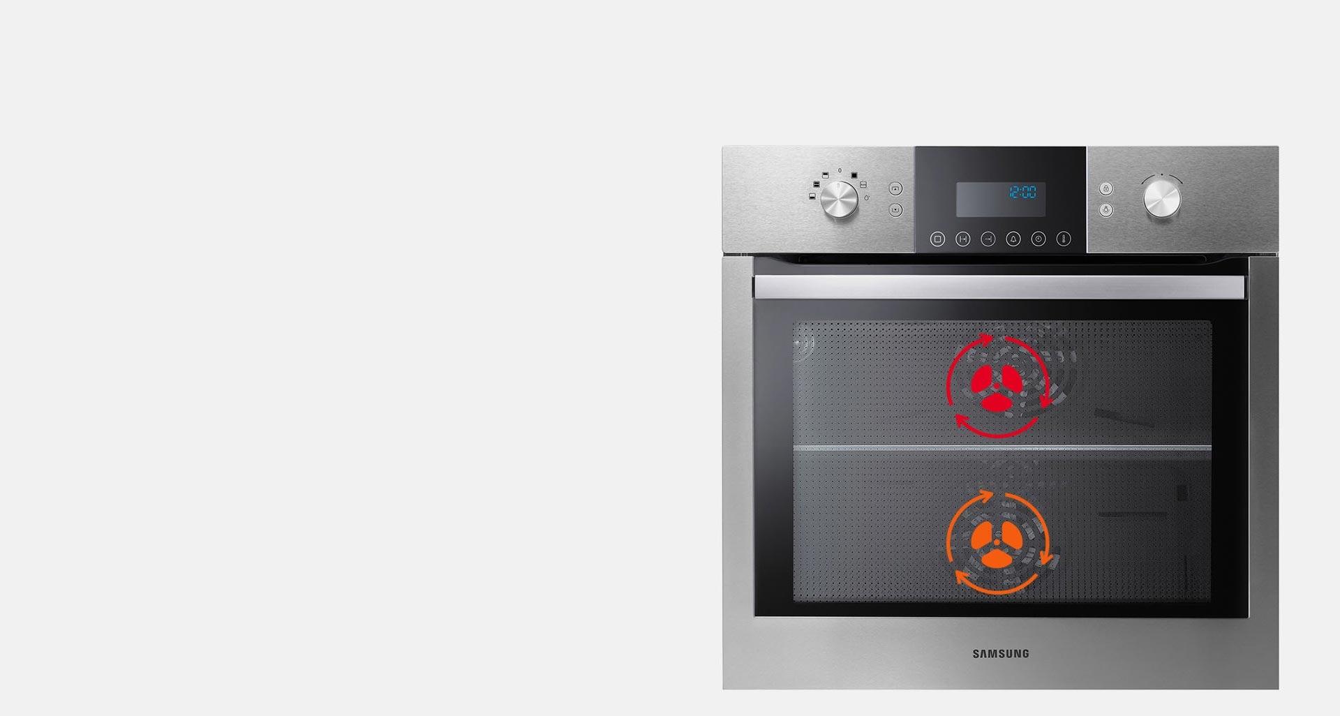 قابلیت پخت دو غذا به صورت همزمان در فر برقی BQ680