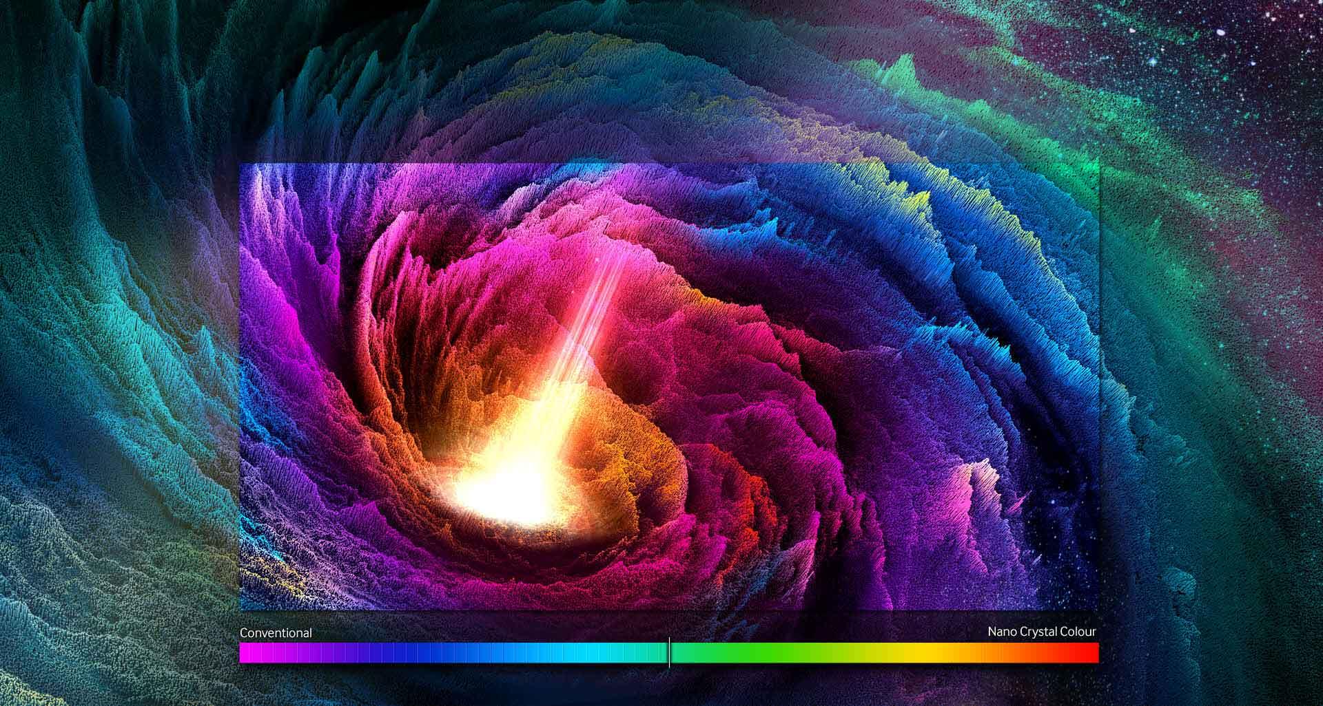 تلویزیون ال ای دی منحنی سری 10 نانو کریستال اسمارت سامسونگ