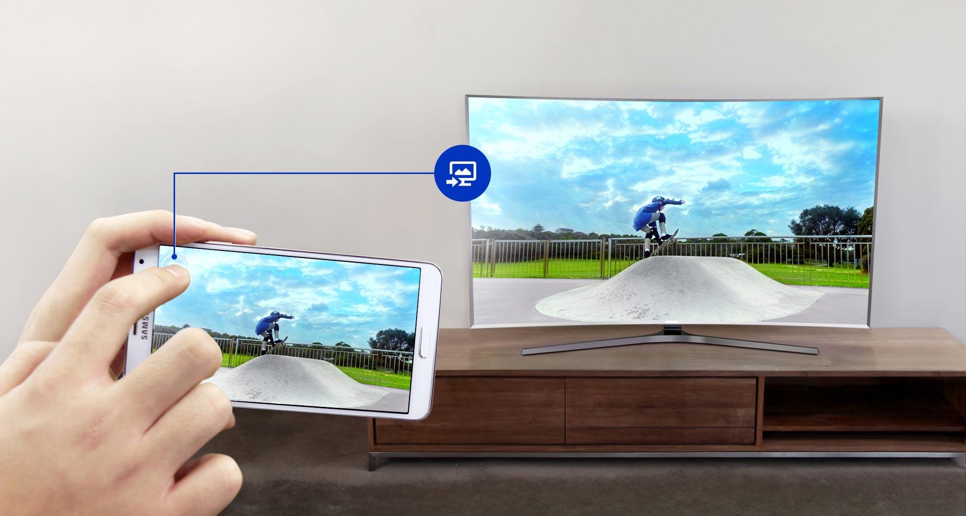 تلویزیون ال ای دی منحنی 55 اینچ سری 9 نانو کریستال اسمارت سامسونگ